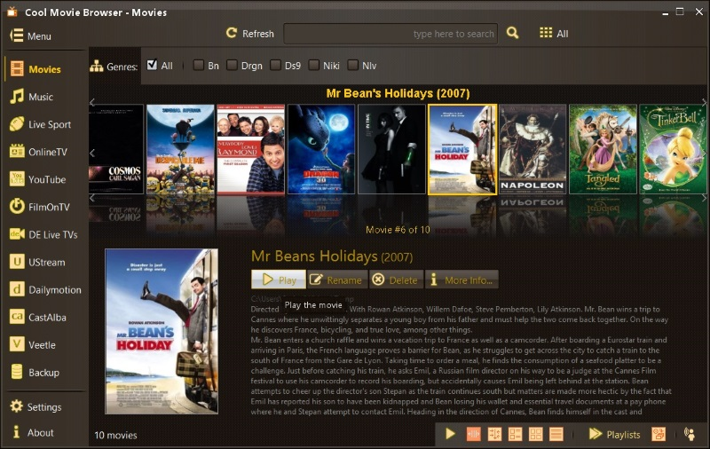Click to view Cool Movie Browser 5.1.170612 screenshot